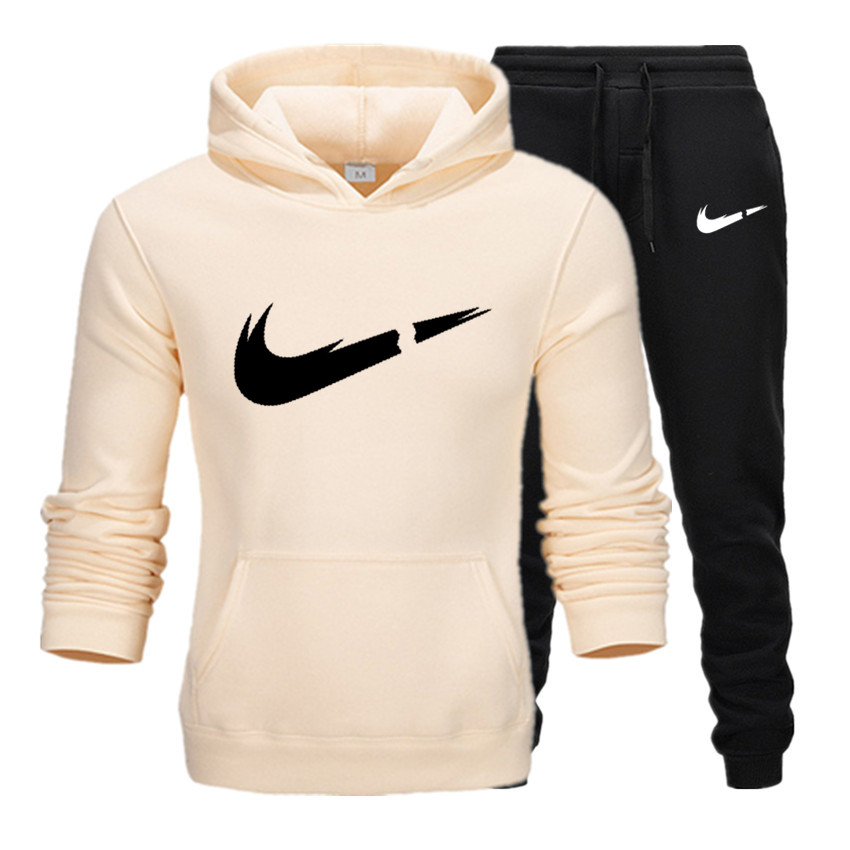 New Hot Brand Men Sweatshirt Tracksuit Prints Thermal Underwear Men Sportswear Sets Fleece Thick Hoodie+Pants Sporting Suit Male