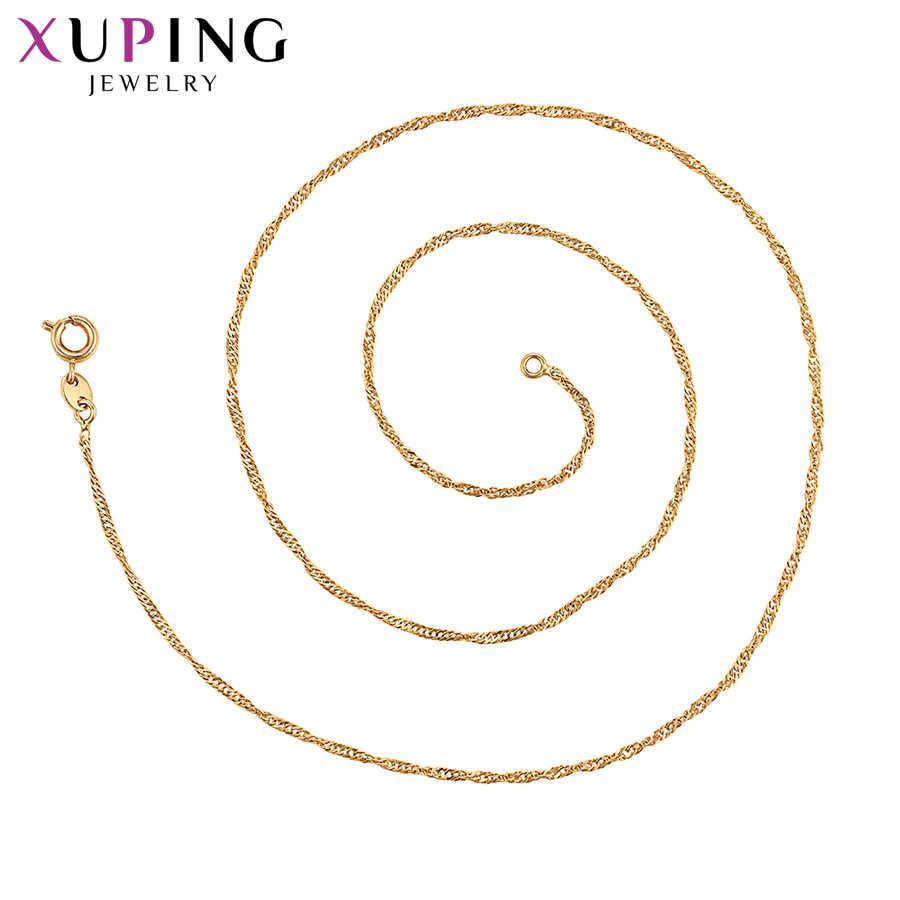 Xuping Thanh Lịch Trang Sức Vòng Cổ Dài Hoa Hồng Vàng-Màu Sắc Mạ Vòng Cổ Quà Tặng Đẹp Cho Nữ S100.4-4523