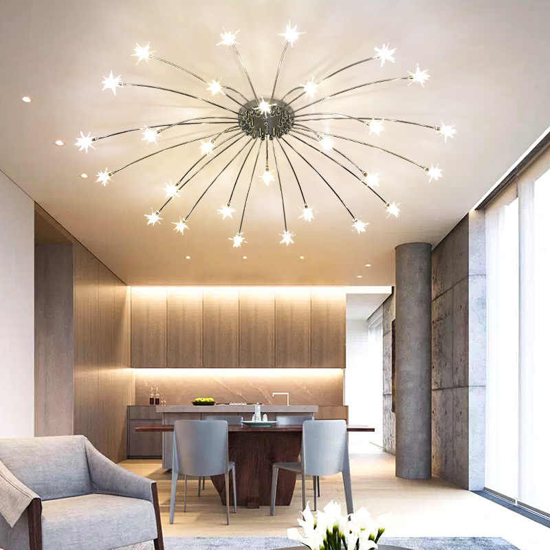 LUXE DEL plafond éclairage chambre ciel étoilé Cristal Or Lampe