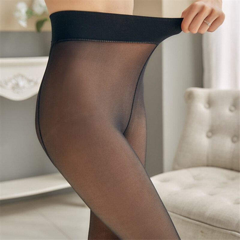 NORMOV Fashion Women Leggings Thick Velvet Warm Mesh High Waist Slim Leggins For Female Spring Clothes Workout Sexy Leggings