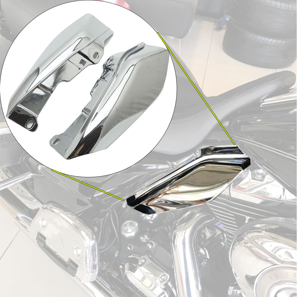 New Chrome Air Deflector Trims for Harley Touring Road King FLHR Street Electra Glide FLHX 2009 2010 2011 12 13 14 15 2016