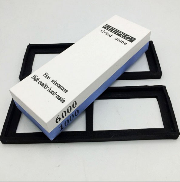 OUSSIRRO Brand 1000 6000 Grit Combination Corundum Waterstone Knife Sharpener Whetstone Sharpening Stones afilador de cuchillos