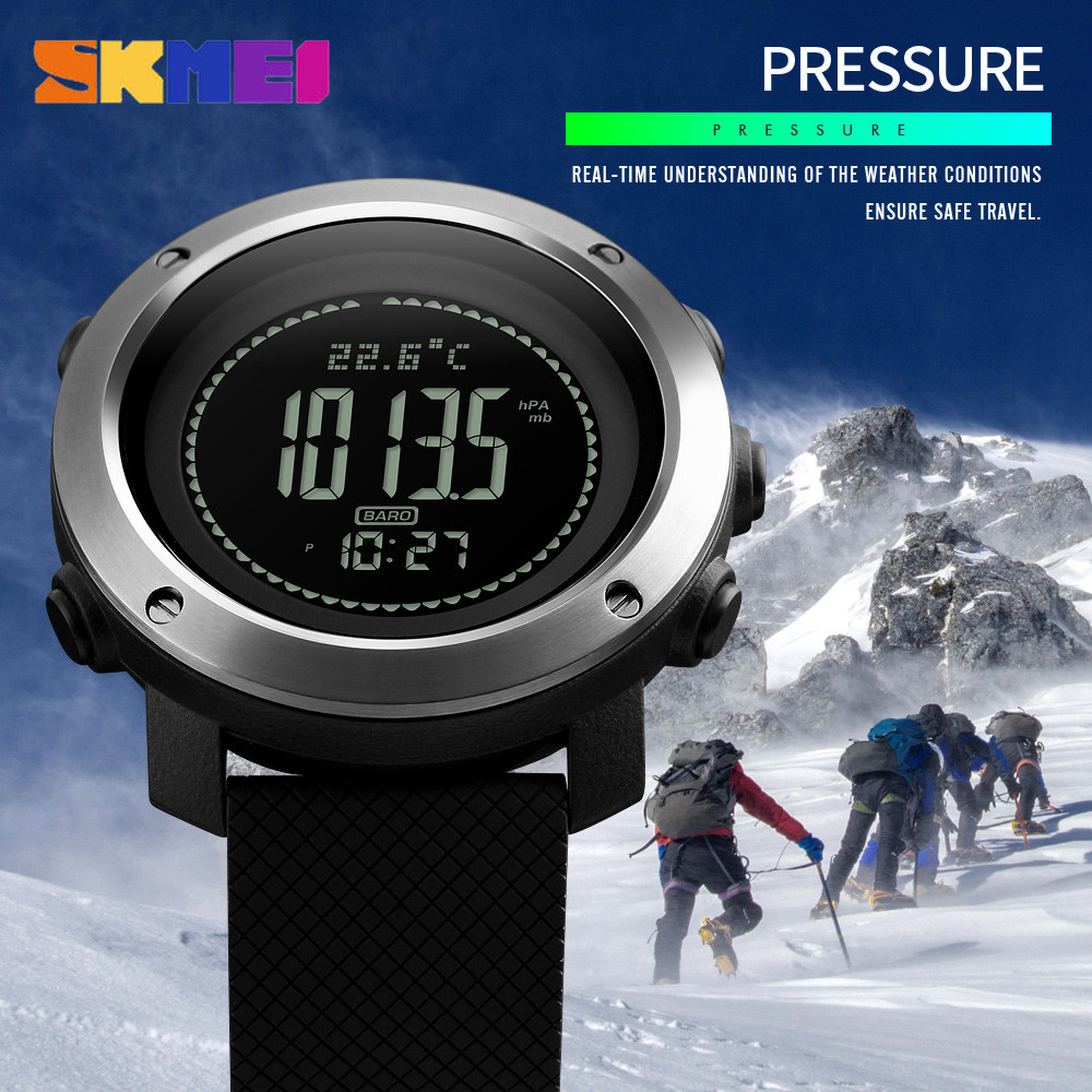 Image 3 - SKMEI Altimeter Barometer Thermometer Altitude Men Digital Watches Sports Clock Climbing Hiking Wristwatch Montre Homme 1418-in Digital Watches from Watches
