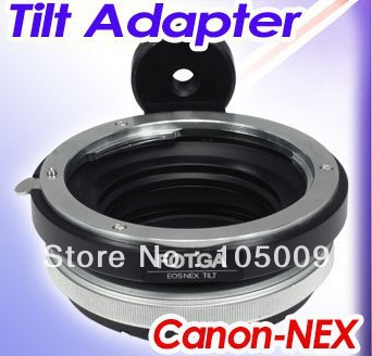 Tilt lens adapter ring with tripod for EF to NEX e mount 5T 3N NEX 6