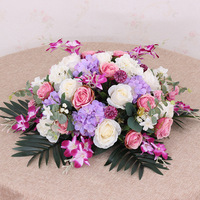 JAROWN Podium Bouquet Meeting Table Flower Business Artificial Fake Rose Lily Flowers Wedding Party Decor Rostrum Front Desk Put