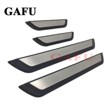 цена на For Toyota chr c-hr 2017 2018 Door Sill Scuff Plate Guards Door Sills Strip Protector Stickers Car Accessories