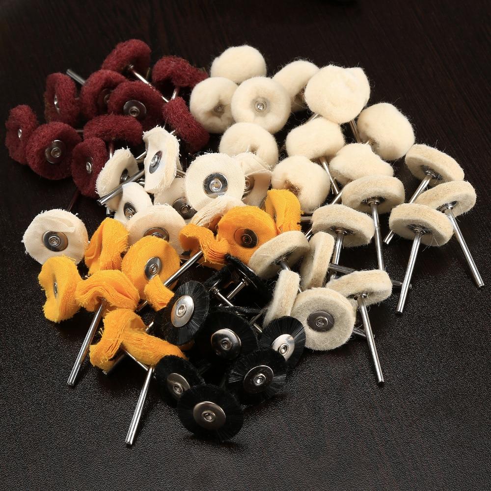 60Pcs Dremel Accessories Felt Polishing Wheel Buffing Pad Burr Grinding Wheel Brushes for Rotary Tool Dremel Machine