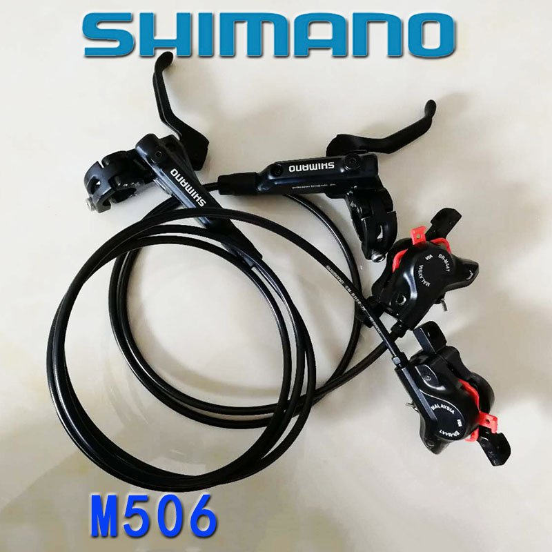 New Shimano BL-M506 M447 Hydraulic Disc Mountain Brake set Front Rear Bike Bicycle brake Front 800mm rear 1300mm 2 pair universal car 3d style disc brake caliper covers front rear