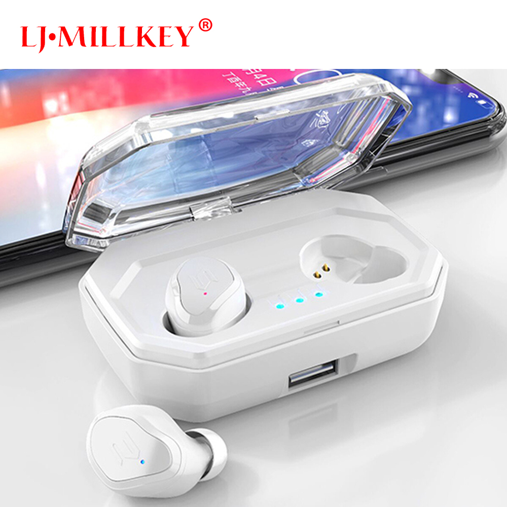 Bluetooth 5.0 Earphone With Microphone Mini Wireless Earbuds Stereo Headset High Sound Quality TWS HD Bluetooth Earphones YZ209 mini tws v5 0 bluetooth earphone port wireless earbuds stereo in ear bluetooth waterproof wireless ear buds headset yz209
