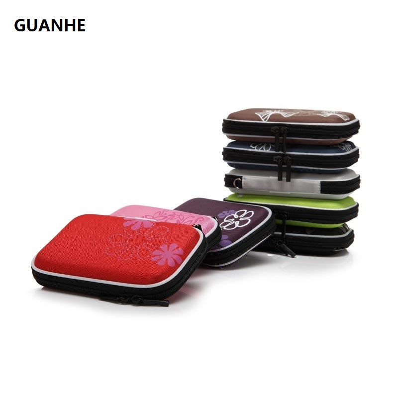 GUANHE EVA printing 2.5 hard disk cover pouch SATA HDD Mobile Hard Drive Disk Storage Bag Case 2 5 hdd bag hard disk case zipper pouch external hard drive disk protector cover powerbank mobile hdd eva storage box caddy
