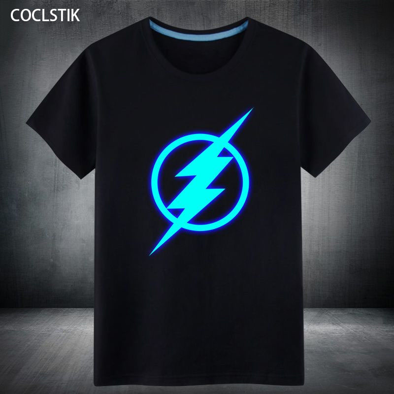 100% Cotton Mens Summer The Fluorescent Deadpool/Flash Short T Shirt Fluorescent Tshirt Men Male Casual Tops 20 Colors S-5XL