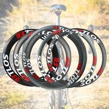 Углеродные велосипедные колеса 30 35 40 45 50 55 60 80 мм Глубина специального торможения V Тормозной клинчер 700c дорожный велосипед колеса BTLOS RC серии