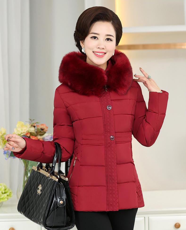 Winter New Korean Version Of The Fashion Slim Women 's Clothing Big Hair Collar Short Paragraph Thickening Ms. Cotton Jacket