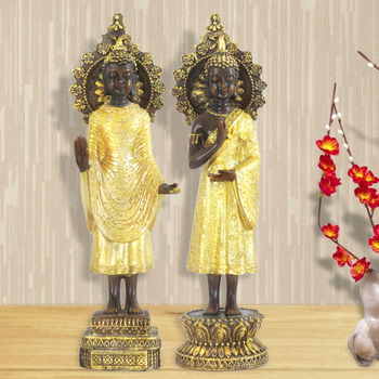 Southeast Asian Buddha Statues Standing Buddha Thai Restaurant Club Lucky Decoration Thai Home Crafts Soft