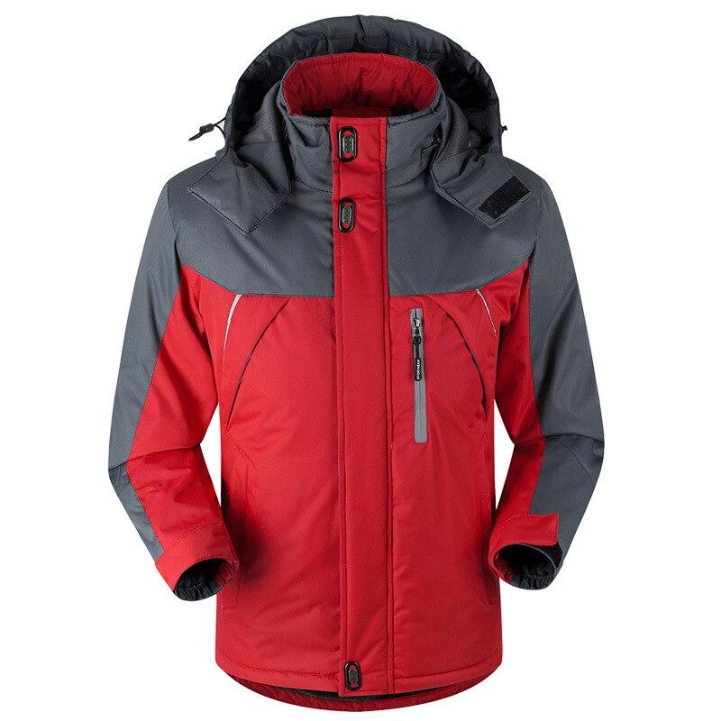 Winter Jacket Sportwear Men Thick Windproof Waterproof Fleece Jackets Men Thicken Warm Outwear Parkas Varsity Hooded Coat Y522