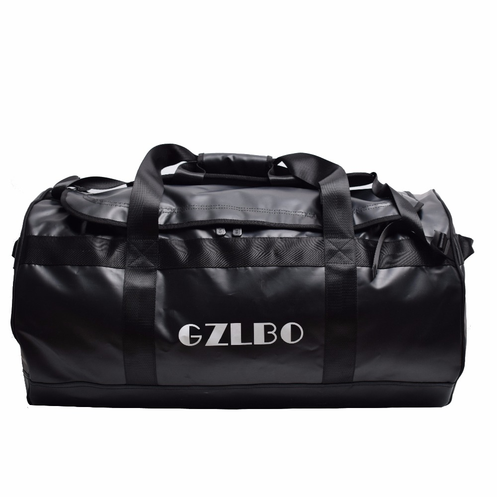 GZLBO 90L Popular PVC waterproof bag black travel bag Waterproof duffel bag waterpro pvc dry bag travel bag diving equipment bag 80l marble black