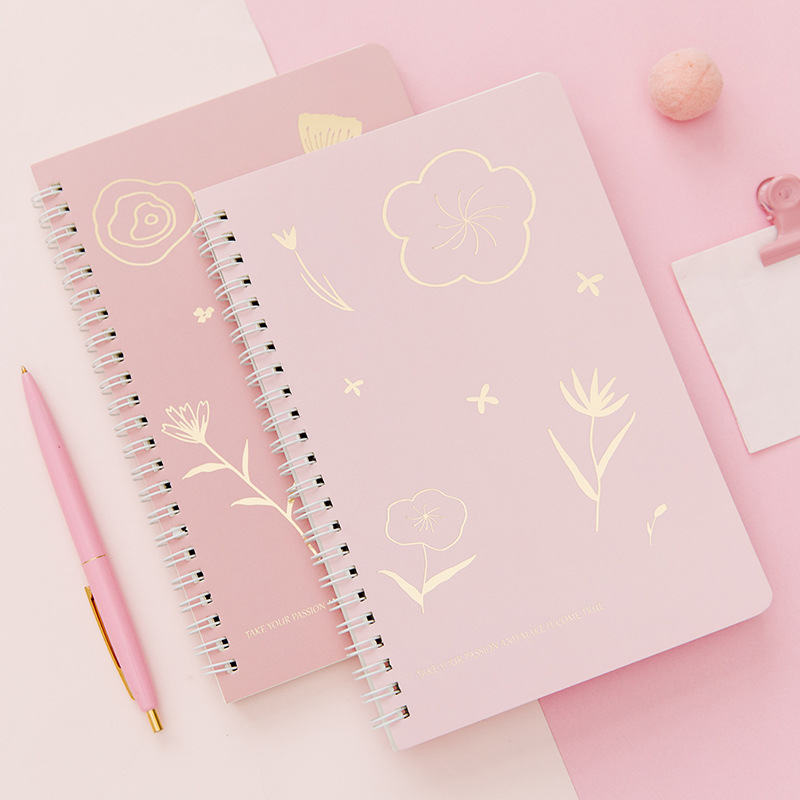 Office & School Supplies A5 Sakura Theme Coil Notebook 80 Sheets Grid/lined Paper Book Gift Fast Color