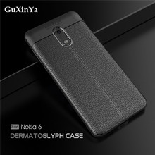 GuXinYa For Cover Nokia 6 Phone Cases Luxury Leather ShockProof TPU Protective Case 2017 Funda ta-1021