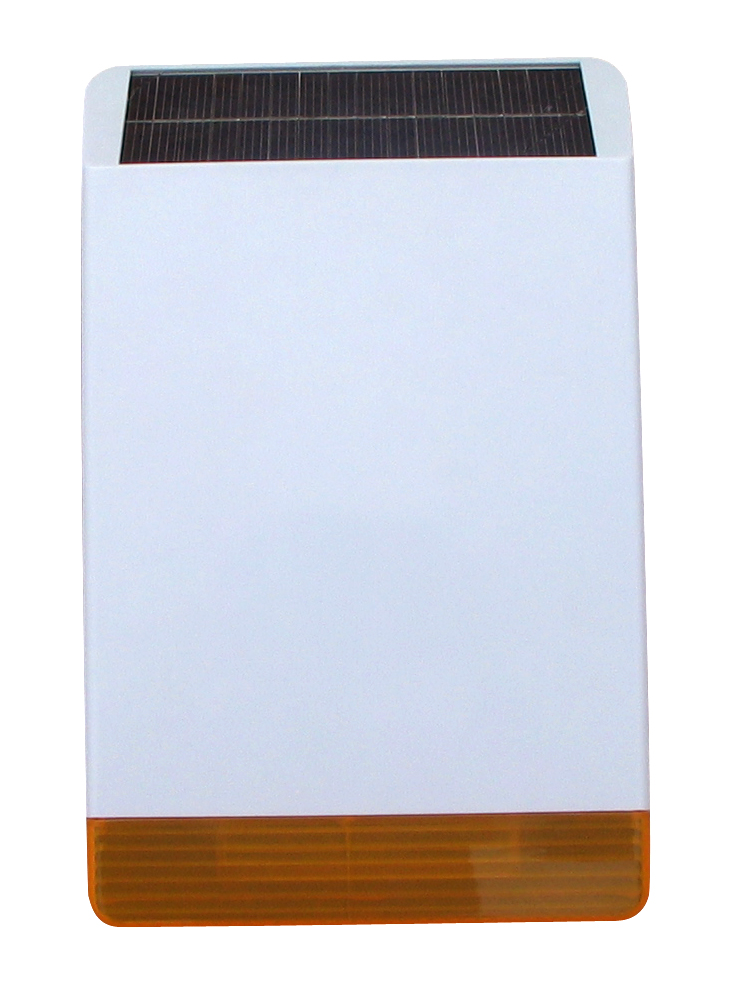 Focus MD-326R Wireless External Strobe Flash Siren Solar-powered Siren With 110dB Big Sound Alarming