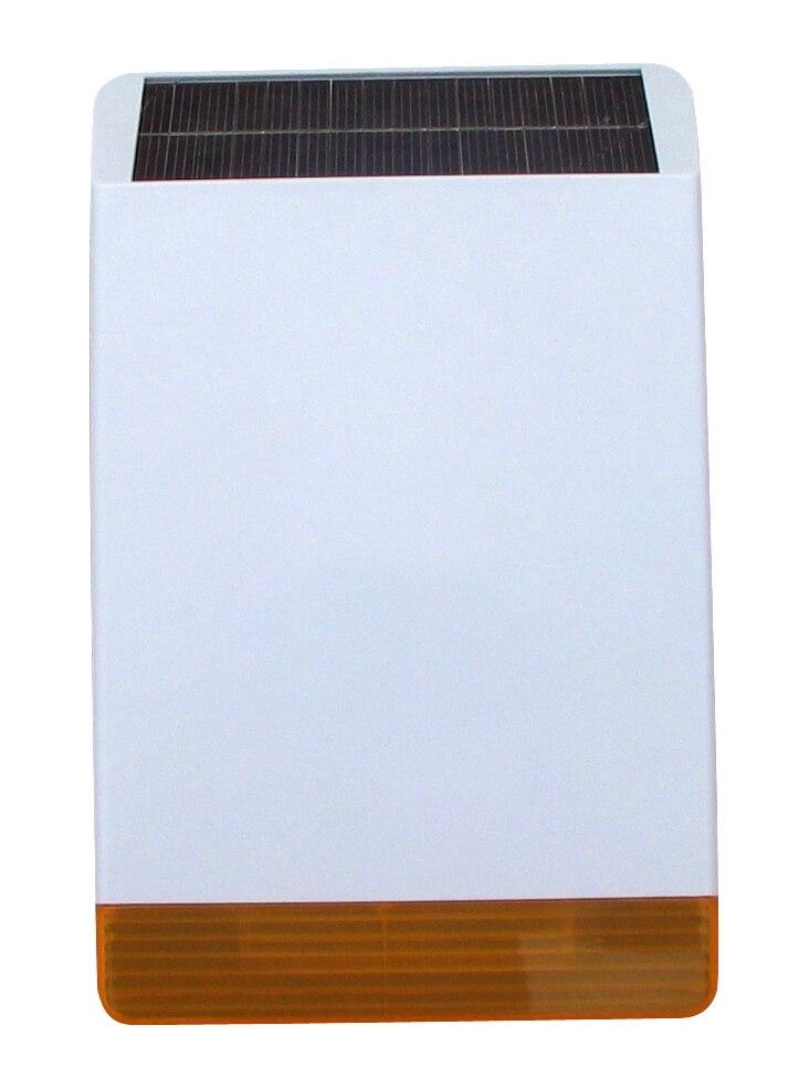 Einfache installation Wireless Outdoor Strobe-sirene Solar-powered Vater mit 110dB big Sound Alarm