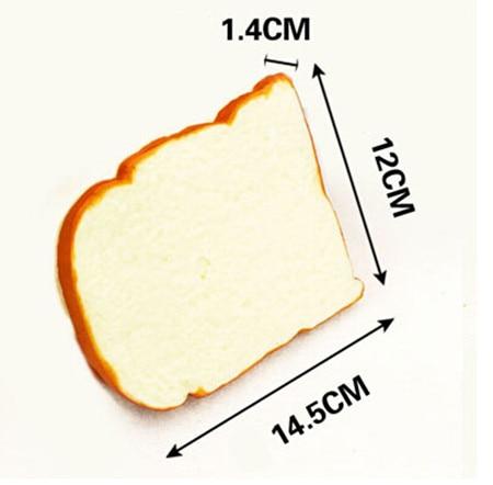 Envío gratis 4 unids / lote pan tostado alimentos artificiales - Decoración del hogar - foto 2