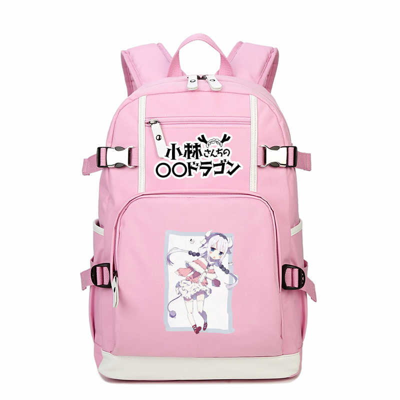 High Quality Cartoon Miss Kobayashi's Dragon Maid KannaKamui Cosplay Backpack Anime School Bags Canvas Women Backpack Travel Bag цена
