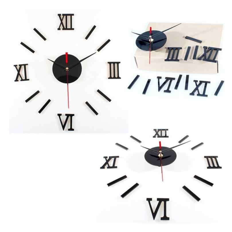 高級大型壁時計リビングルームdiy 3d家の装飾ミラーデザインファッション壁ポスターの装飾工芸品壁時計2017d12