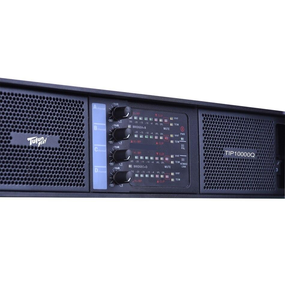 4CH 4*2500 Watts Class TD 10000q line array power amplifier professional DJ  Subwoofer poweramp Tulun play TIP10000q