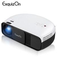 Exquizon CL760 3200 люмен 1280*800 проектор Поддержка аудио видео 1080 P HD Проектор для домашнего кинотеатра с USB Бесплатная HDMI светодиодный ТВ