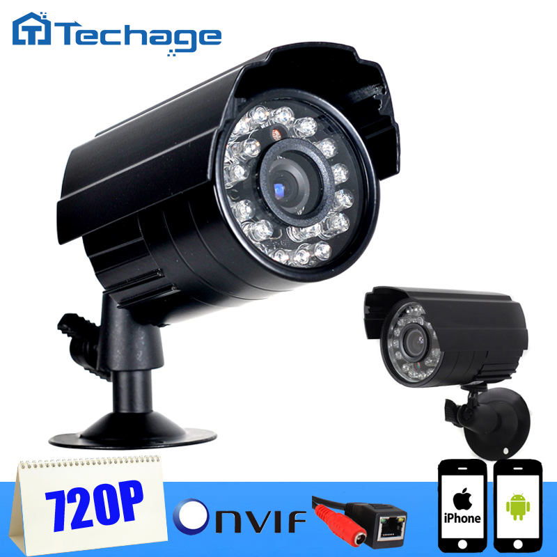 Techage Mini IP Camera 1280 720P 1 0MP 1200TVL ONVIF 2 0 Waterproof Outdoor IR CUT