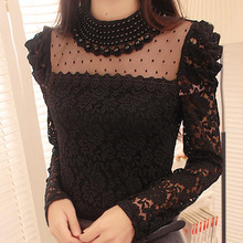 EAST KNITTING CD61 New 2017 Spring Fashion Women's Elegant Lace Shirt OL Lace Top Blouse Sexy Blouses