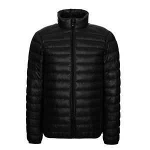 Image 3 - NewBang Brang 男性のダウンジャケット超軽量ダウンジャケットの男性は襟冬羽ウインドブレーカー軽量暖かい薄型パーカー