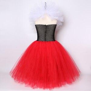 Image 4 - מלכת לבבות טוטו שמלת ילדה ילדים ליל כל הקדושים קרנבל שמלה אדום ושחור לבן מלכת אליס Cosplay תלבושות בנות המפלגה שמלה