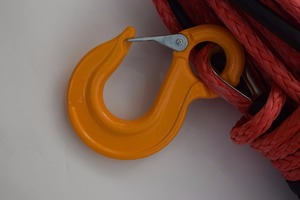 Image 3 - Red 14mm*45m Synthetic Rope,UHMWPE Winch Rope,ATV off road Racing RopeWinch Cable