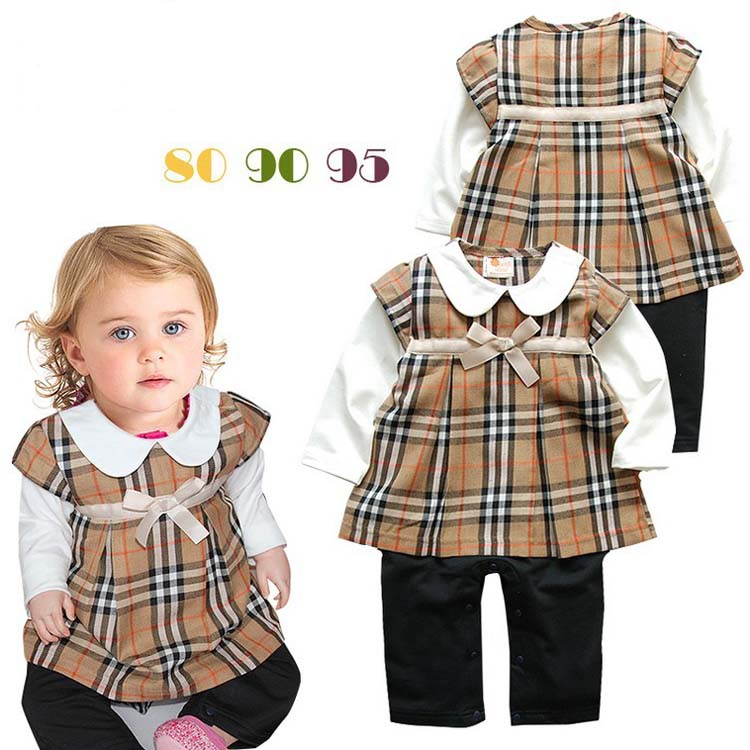 Xmas Rompers New Toddler Kids Baby Boys Girls Christmas Plaid Long Sleeve Bow Tie Romper Jumpsuit Clothes Outfit Children Romper