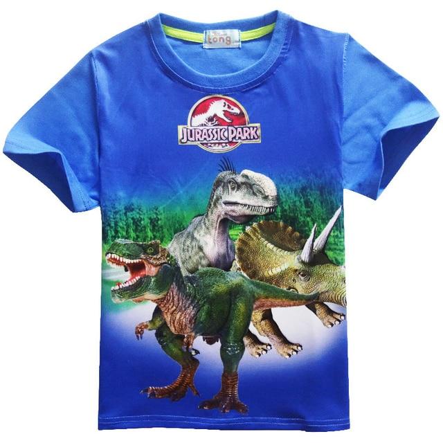 cfaca825 New Jurassic World dinosaur boys t shirt summer baby kids roblox tops tee  children t-shirts for boys clothes ninjago garments