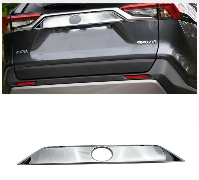 Accessoires de voiture de haute qualité ABS chromé arrière coffre Streamer garniture de porte pour Toyota RAV4 2019 2020 accessoires de voiture
