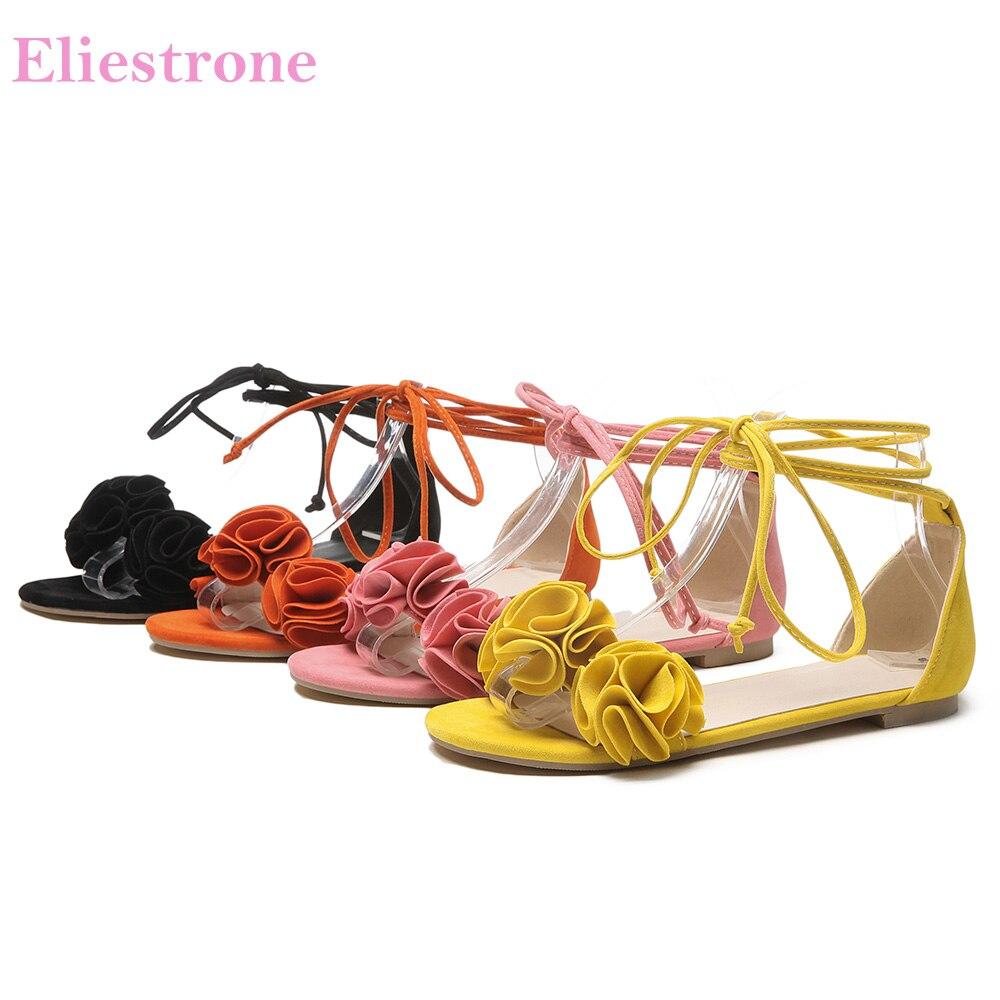 Schuhe Nachdenklich Neue Sommer Vertriebs Süße Orange Gelb Frauen Casual Sandalen Komfortable Rosa Dame Strand Schuhe Hs28 Plus Große Kleine Größe 10 31 43 52 Schnelle Farbe Frauen Schuhe