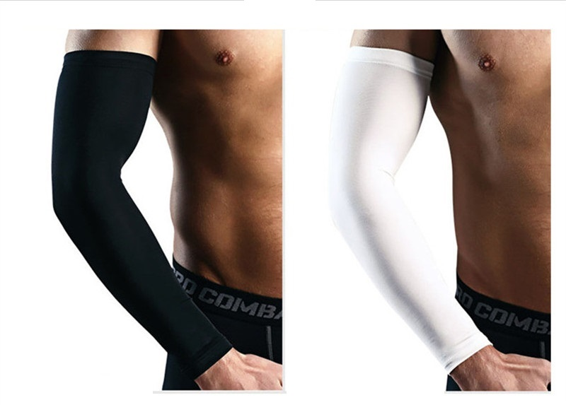 Ice Fabric Breathable UV Protection Running Arm Sleeves Fitness Basketball Sleeve Sport Cycling Outdoor Arm Warmers Cycling Cuff