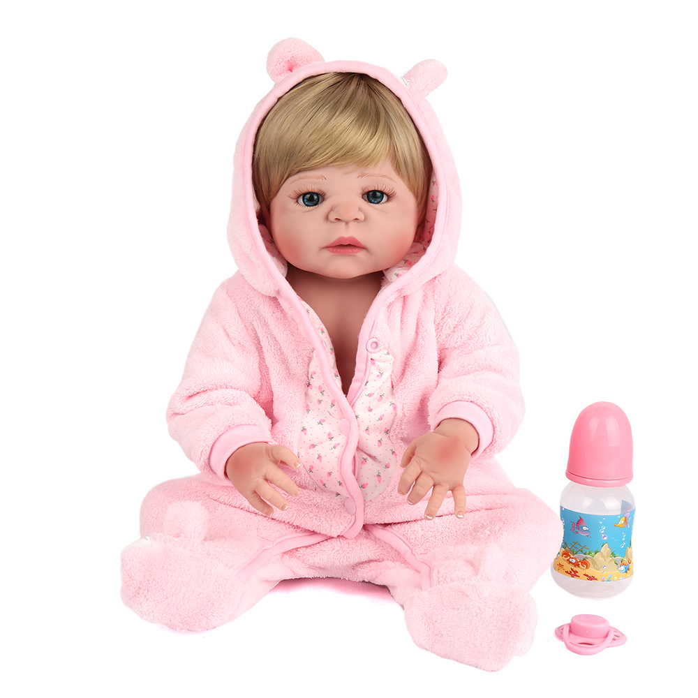 55cm Full Silicone Body Reborn Babies Doll Toys Newborn Girl Doll Reborn Kids Birthday Gift Bathe Toy Bebe Brinquedos Gift full silicone body reborn baby doll toys 55cm princess newborn girl babies doll kids birthday present bathe toy girls brinquedos