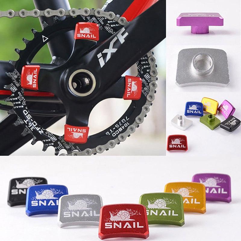 SNAIL Bicycle Crank Chainwheel Screws Cover Top Cap for MTB Road Bike Crankset