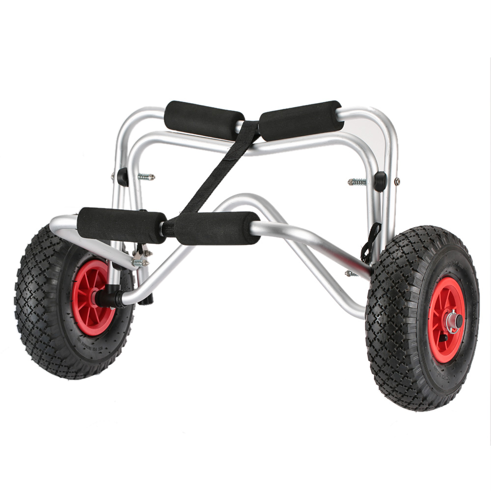 75 KG capacité de chargement Chariot Léger Pliable Bateau Porte-Kayak d'économie d'énergie Deux-wheele Panier Transporteur pour canoë Kayak Bateau