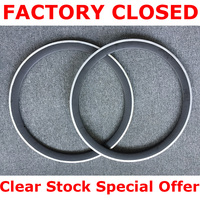 clear stock Ultra Light Full Carbon Bicycle rims 45mm Carbon Clincher Wheels Road Bike Wheel alloy Braking Surface