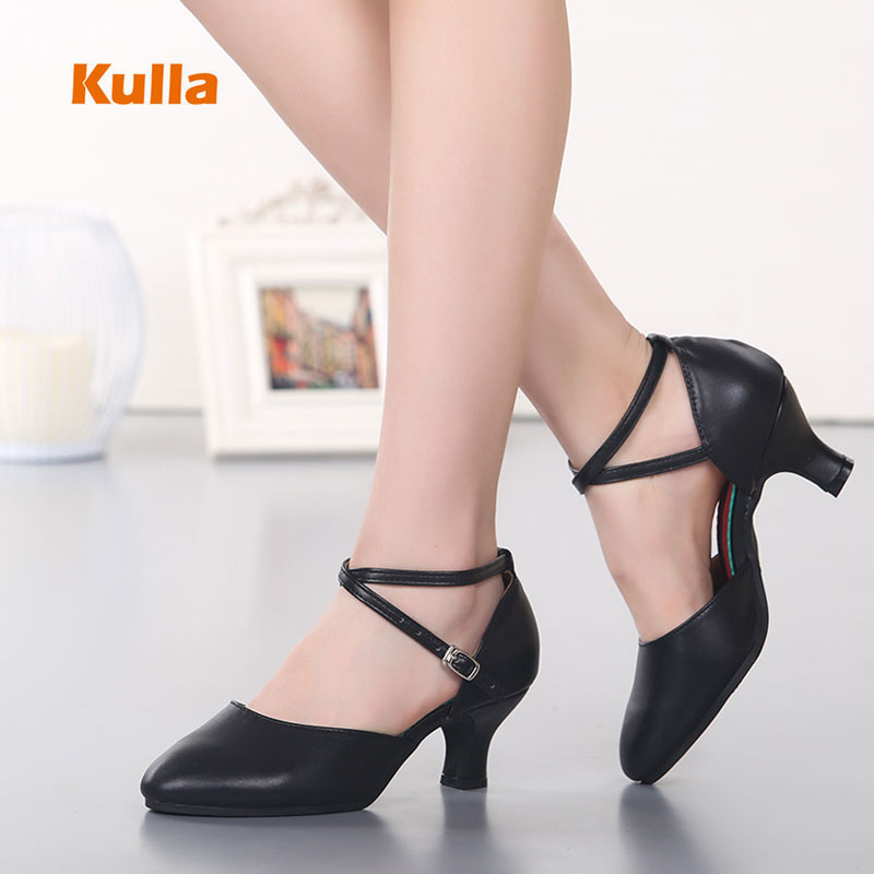 Genuine Leather Women Latin Salsa Dance Shoes Heels 3.5/5.5cm Ballroom Modern Jazz Shoes For Ladies Girls Party Waltz Dance Shoe