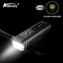 USB rechargeable bicycle light 3 lighting mode LED bike waterproof anti-glare intelligent induction easy to install