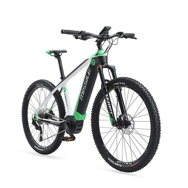 27,5 zoll carbon fiber e-fahrrad mitte-motor carbon faser elektrische booster mountainbike versteckte lithium-batterie elektrische fahrrad