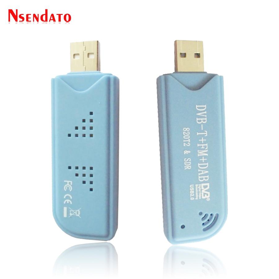Digital RTL2832U & R820T2 USB2.0 Smart DVB-T SDR TV Stick Tuner DVB-T+FM+DAB RTL-SDR TV Receiver Dongle With Antenna For windows