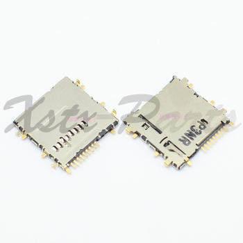 10PCS/lot Sim Card Reader Tray Slot Holder + Memory Card Socket Slot For Samsung Galaxy P5200 T210 T211 T310 T311 T315 T111 image
