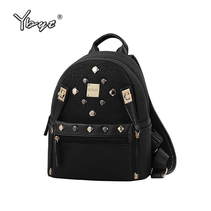 27beb4f78c Best buy YBYT brand 2018 new fashion rivlets women rucksack high quality  female small knapsack famous designer bag ladies travel backpack online  cheap