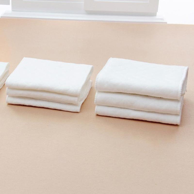 Купить с кэшбэком 10 pcs 3 Layers  Microfiber Baby Nappies Reusable Baby Infant Newborn Cloth Diaper Nappy Liners Insert Fraldas for Baby Care
